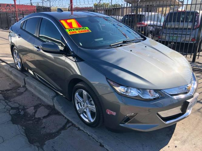 2017 GRAY Chevrolet Volt LT (1G1RC6S57HU) with an 1.5L L4 DOHC 16V engine, CVT transmission, located at 744 E Miner Ave, Stockton, CA, 95202, (209) 944-5770, 37.956863, -121.282082 - Photo #0
